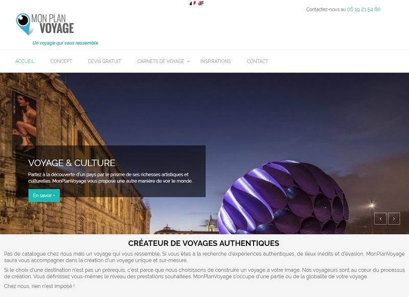 Mon Plan Voyage est une agence en ligne spécialisée dans le sur-mesure - DR : Capture d'écran Mon Plan Voyage