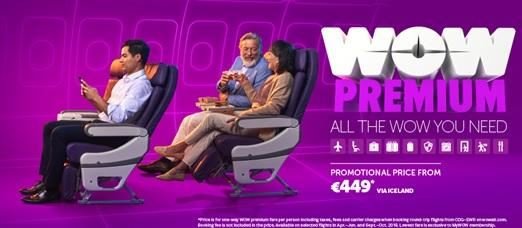 Wow Air lance Wow Premium pour les voyageurs affaires - DR