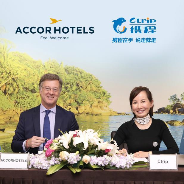 Sébastien Bazin PDG d'AccorHotels et Jane Sun CEO de Ctrip.com - DR Accorhotels.com