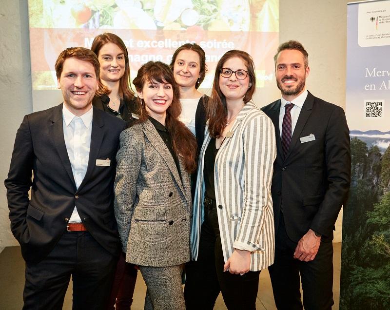 L'équipe de l'Office national allemand du tourisme (De g. à d. : Renko Recke, Lucile Dauge, Audrey Gibouin, Marie-Gabrielle Durand, Lara-Mareen Sarrach et Till Palme) - DR ©ONAT/Andreas Krüger
