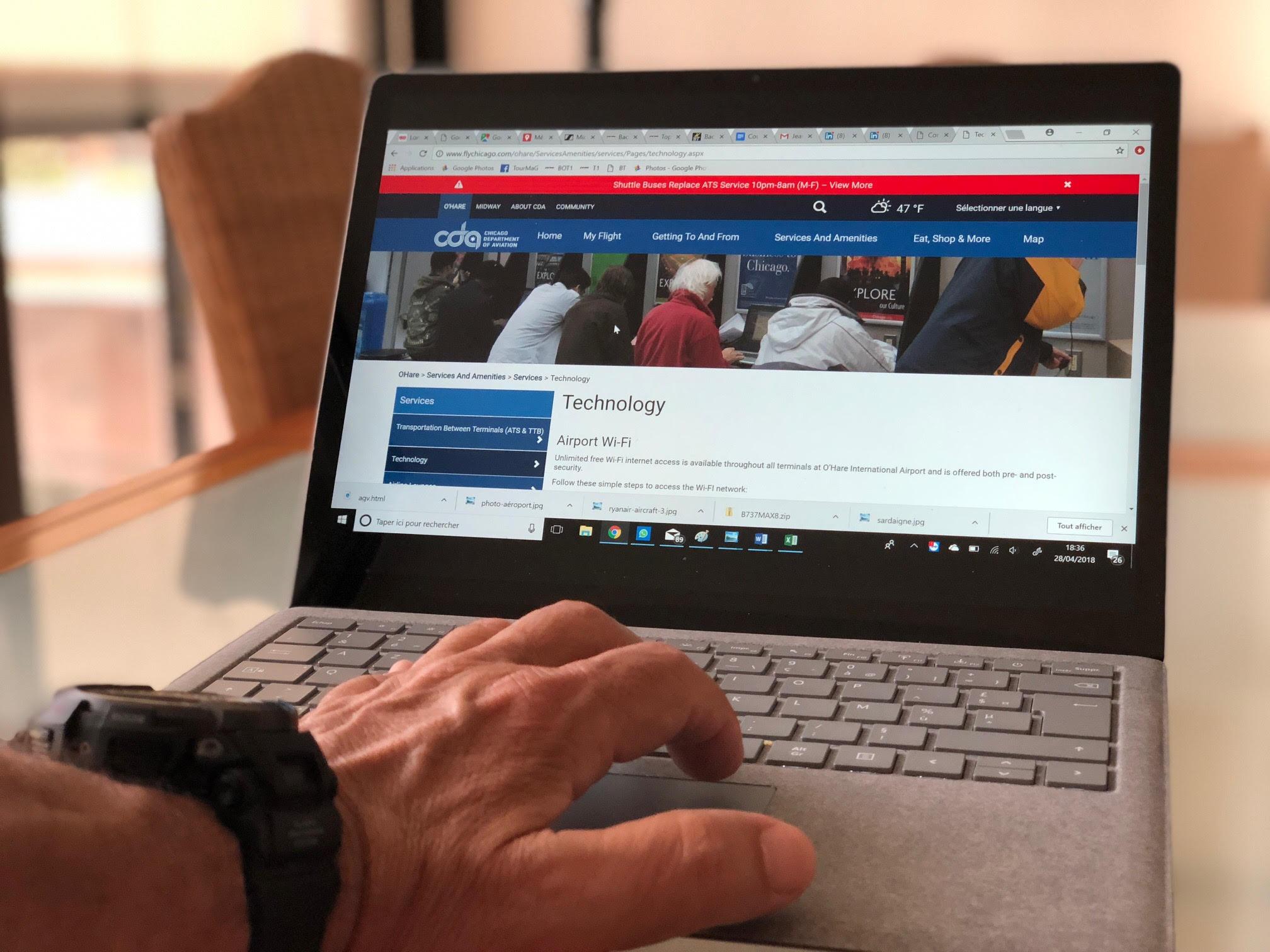 Les aéroports de Chicago offrent une connexion Wi-Fi illimitée gratuite