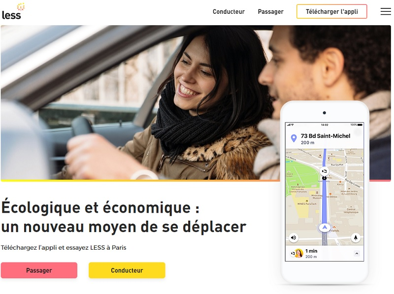Less : application de covoiturage urbain en temps réel  - DR