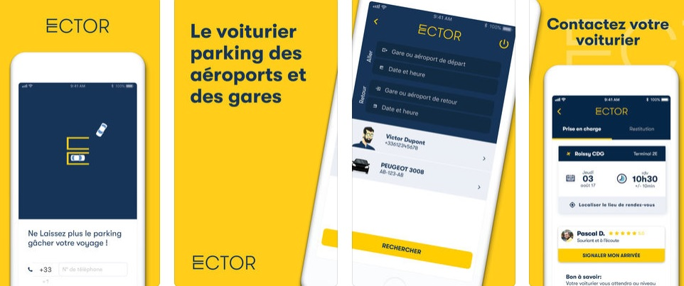 L'appli ECTOR est gratuite et disponible sur IOS et Androïd - DR