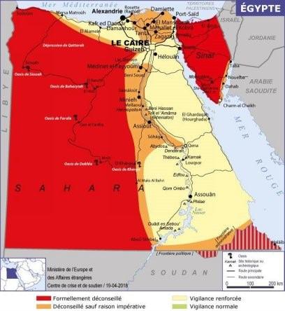 La nouvelle carte de l'Egypte - Crédit photo : Quai d'Orsay