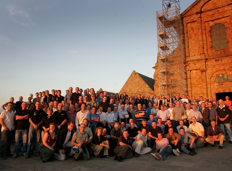 Un groupe en réception à l'abbaye du Mont Saint Michel - DR : Westcapades