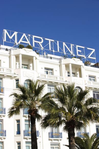 La façade de l'hôtel Martinez - © Jerome Kelagopian