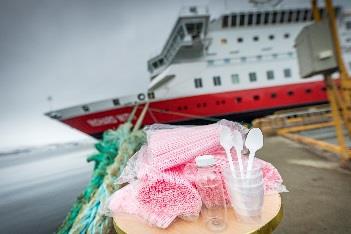 Les objets en plastique à usage unique n'auront plus leur place à bord des navires Hurtigruten - DR Hurtigruten