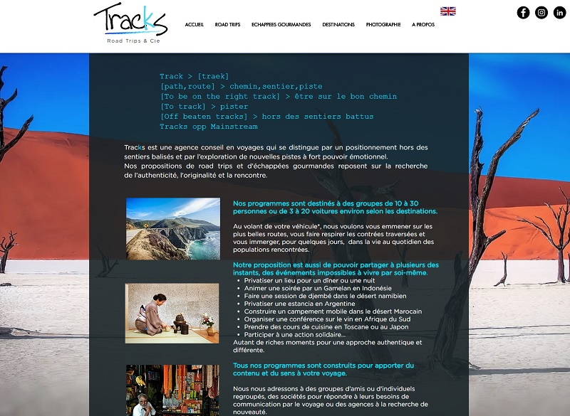 Tracks Events propose des voyages en version road trip, en suivant des itinéraires hors des sentiers balisés - DR : Capture d'écran Tracks Events