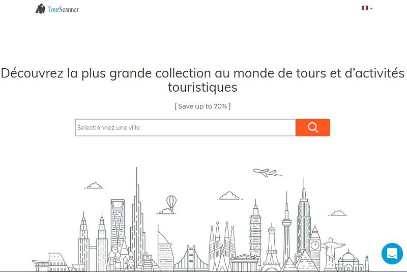 Le site TourScanner permet l'accès à plus de 300 000 offres - DR capture écran