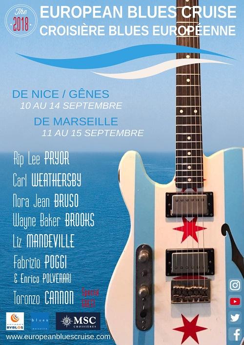 L'affiche de la croisière Blues Européenne - DR