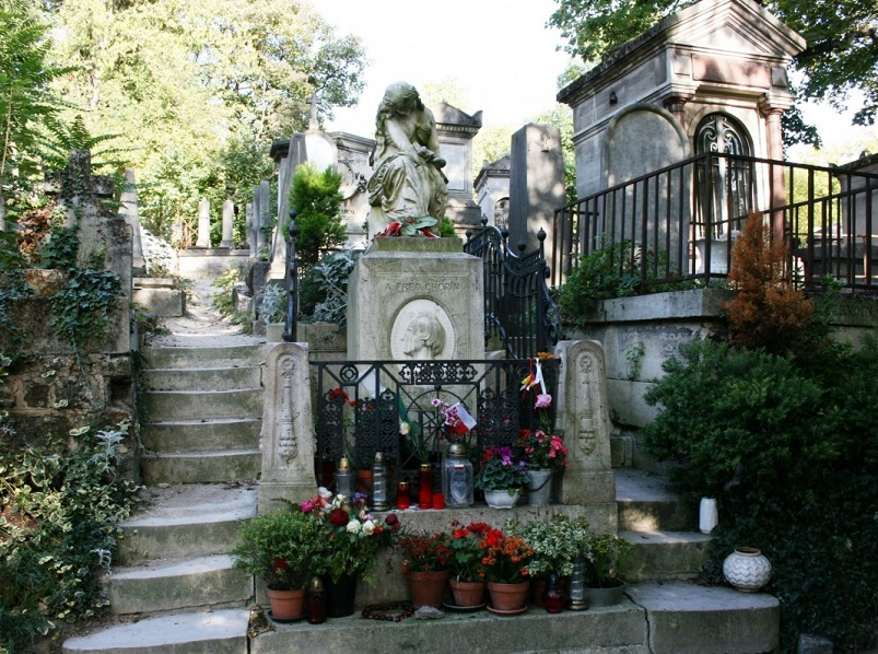 tombe de Frederic Chopin au cimetière du Père Lachaise - photo creative commons libre de droit
