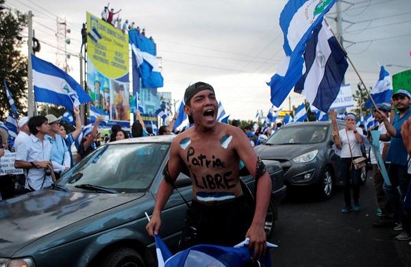Samedi 19 mai 2018, les étudiants du Nicaragua ont appelé au blocage en cas de reprise de la répression - Crédit photo : compte Twitter @InfosFrançaises
