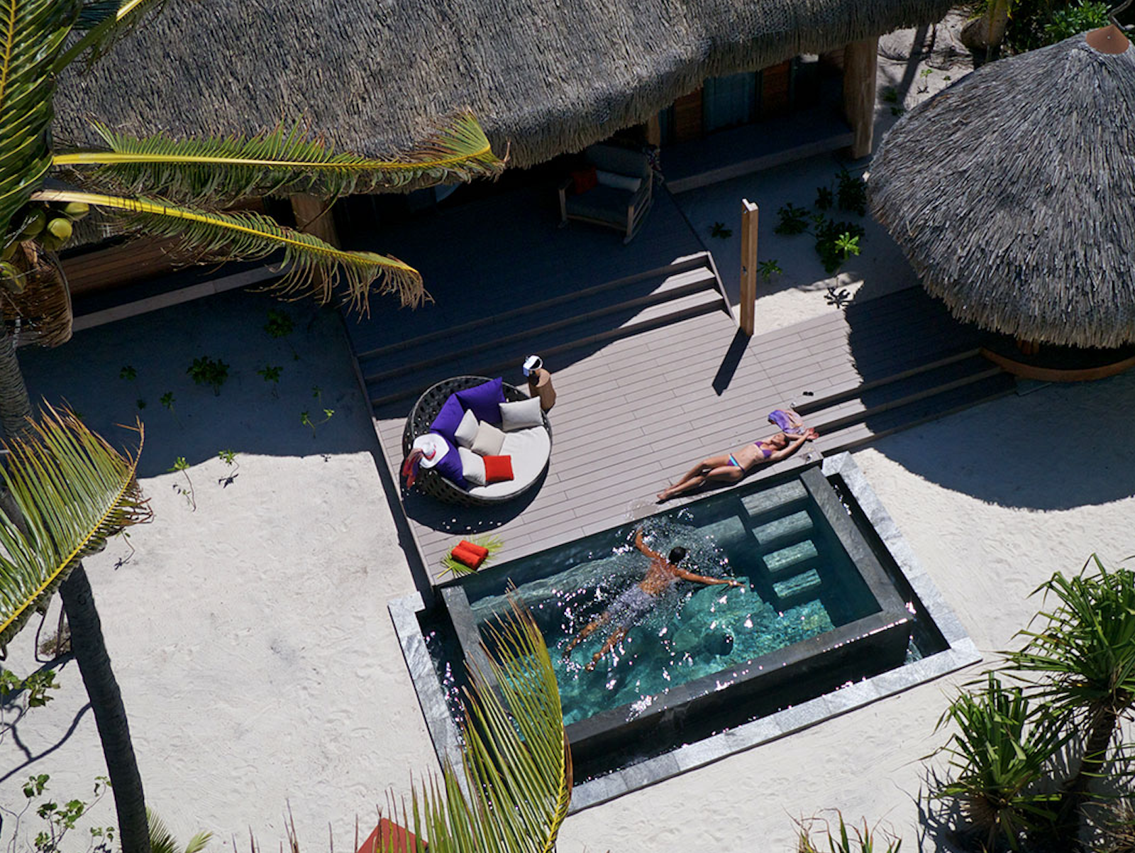 Traditionnellement orientée vers le luxe (ici à l'hôtel The Brando à Tetiaroa), l'hôtellerie tahitienne connaît en haute saison des problèmes de saturation. Airbnb, pensions de famille... : où vont aller les nouveaux passagers amenés par French Bee ? © DR The Brando