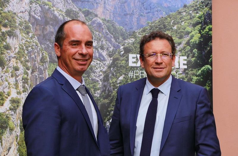 Loïc Chovelon, DG CRT PACA et François de Canson, président. Photo: Laurie Medina