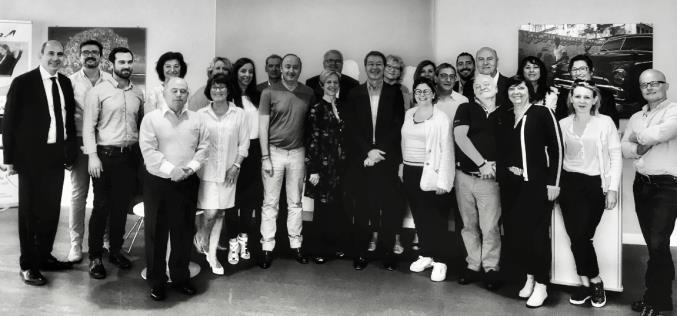La délégation des directeurs d'agences Selectour d'Ile-de-France dans les locaux de Corsair - DR Selectour