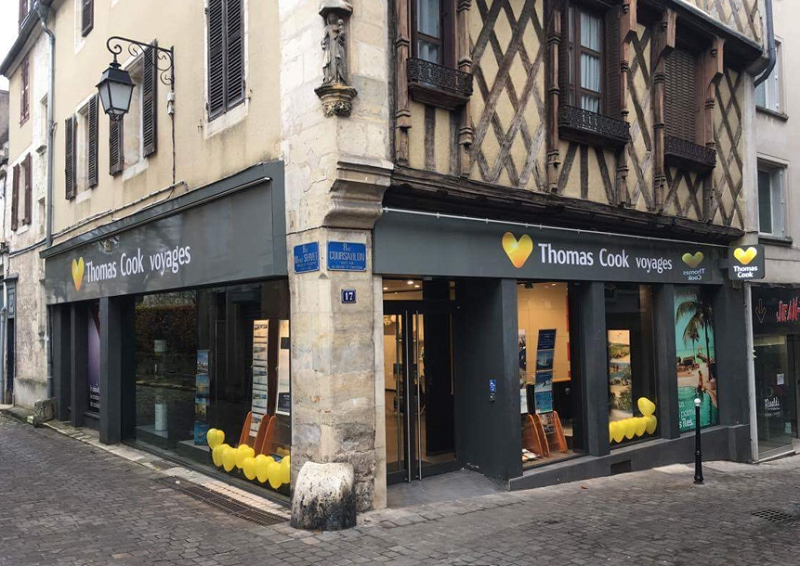 L'agence Thomas Cook Delalande Voyages située à Bourges (18) Photo DR