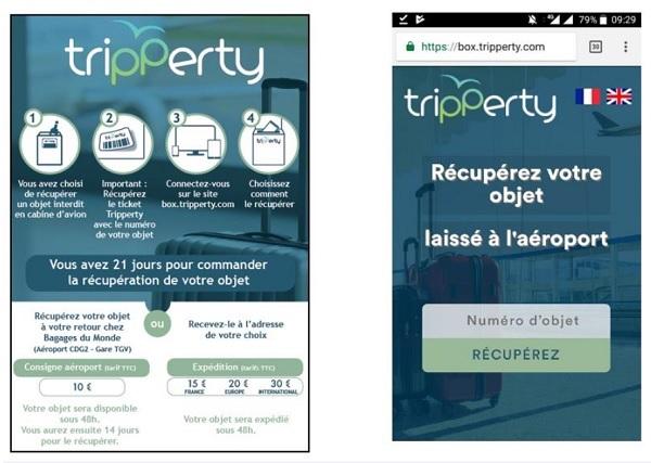 L'application Tripperty permet de ne plus voir ses objets interdits détruits - Crédit photo : tripperty