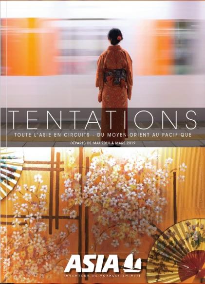La brochure Tentations d'Asia - DR Asia