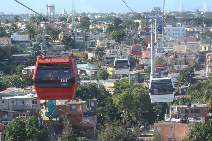 Rep Dom : le téléphérique de Santo Domingo vient d'être inauguré par le Président de la République Dominicaine, Danilo Medina - Photo OT de Rep Dom