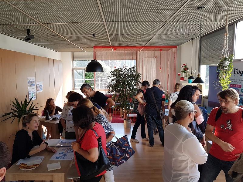 Soirée d'inauguration de l'agence, le 31 mai 2018, dans les espaces de réunion du centre d'affaires - DR : La Cité du Voyage Grand Su