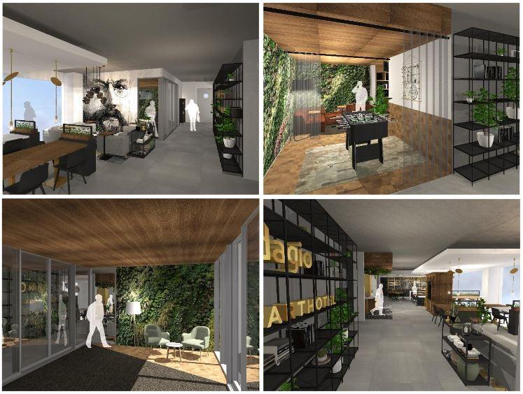 Espaces communs de l'aparthotel Adagio Amsterdam City South - ©Mulderblaw Architecten