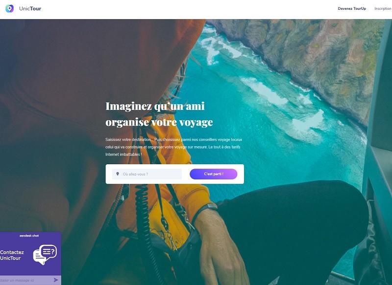 UnicTour travaille avec des conseillers voyages free lance. En quelques clics, un professionnel indépendant ou un particulier passionné de voyages peut devenir conseiller - DR : Capture d'écran UnicTour