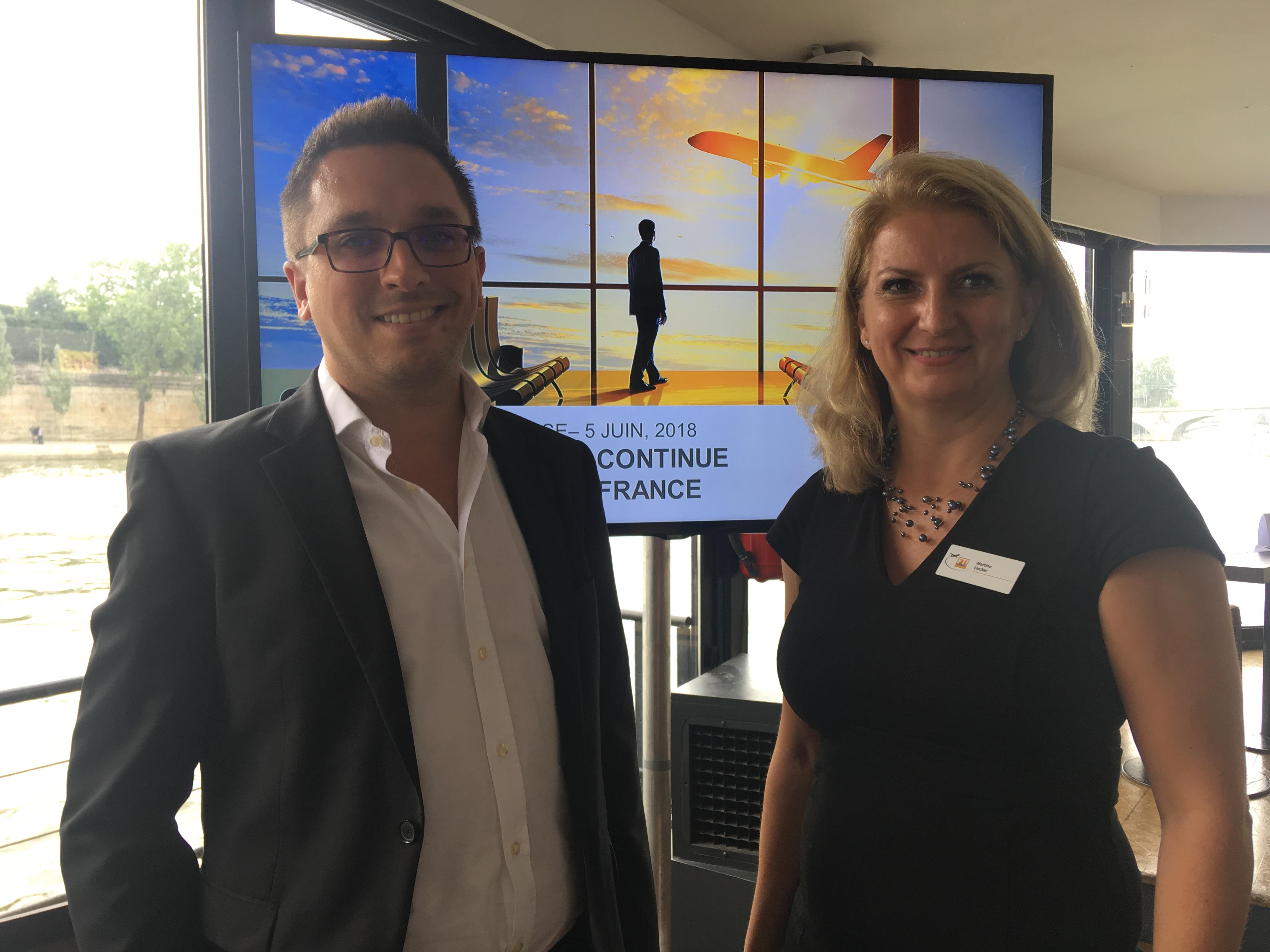 Maik Gruba, directeur général de FTI Ticketshop SAS et Martine Lincker, directrice des ventes. CL
