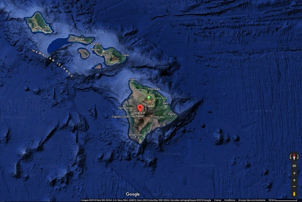 Seulement une partie du Parc National des Volcans d'Hawaï reste fermée - Crédit photo : Google Maps