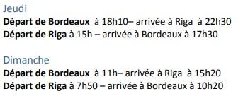 AirBaltic relie Bordeaux à Riga