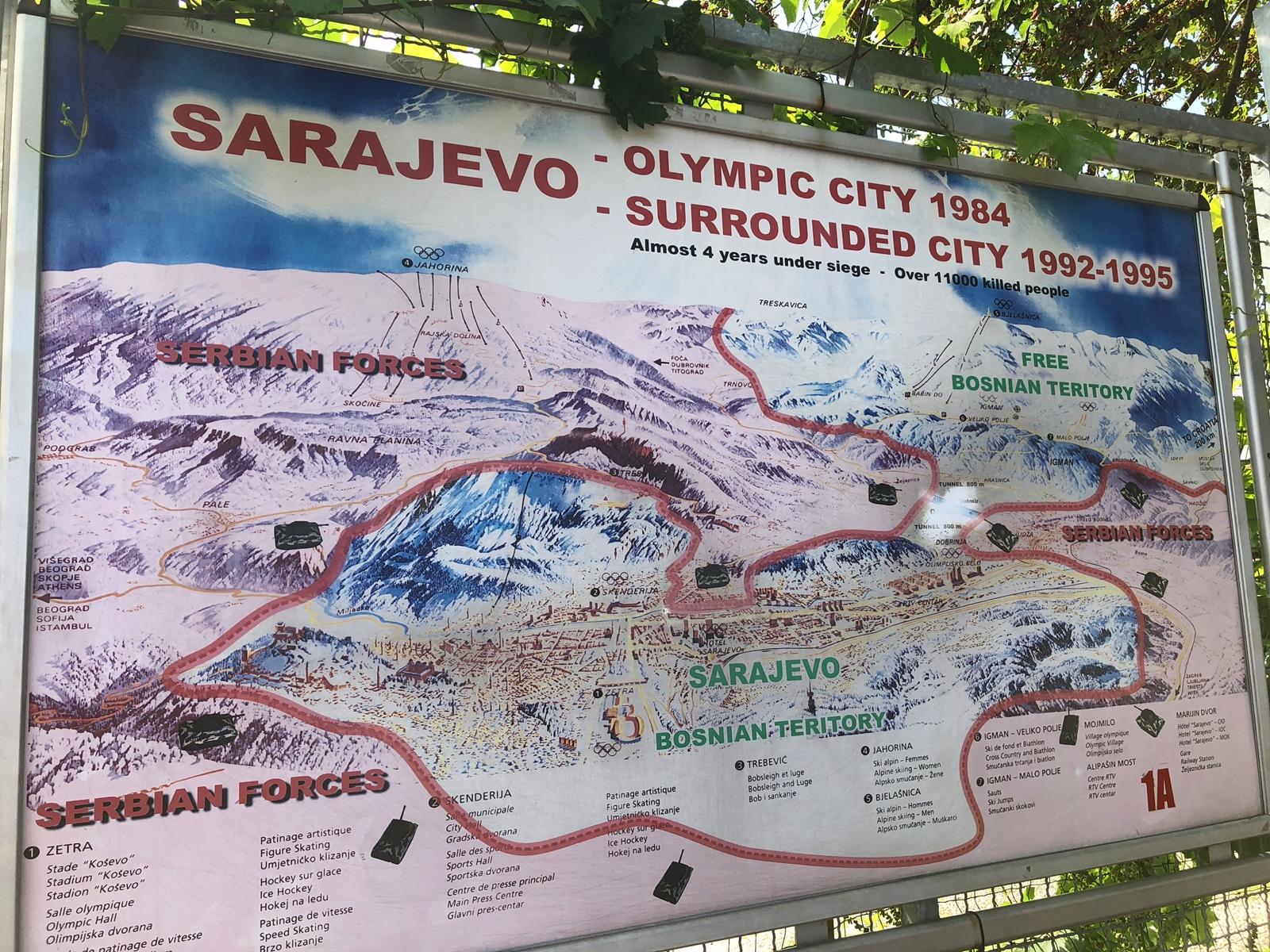 Sarajevo, capitale olympique des JO d'hiver... c'était le bon temps... /crédit photo JDL