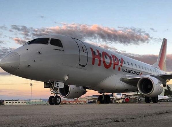 À compter du 24 septembre 2018, Air France proposera 6 vols par semaine entre Rennes et Bruxelles, opérés par HOP! en Embraer 145 de 50 sièges - DR : Hop! Air France