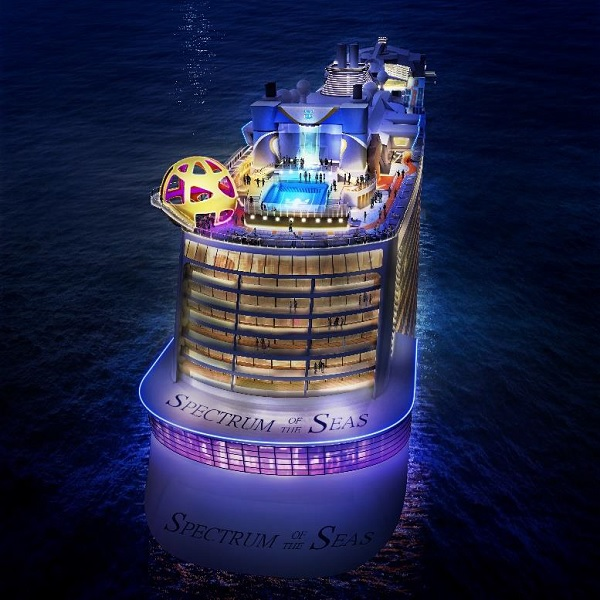 Le Spectrum of the seas partira de Barcelone en avril 2019 - crédit photo : Royal Caribbean