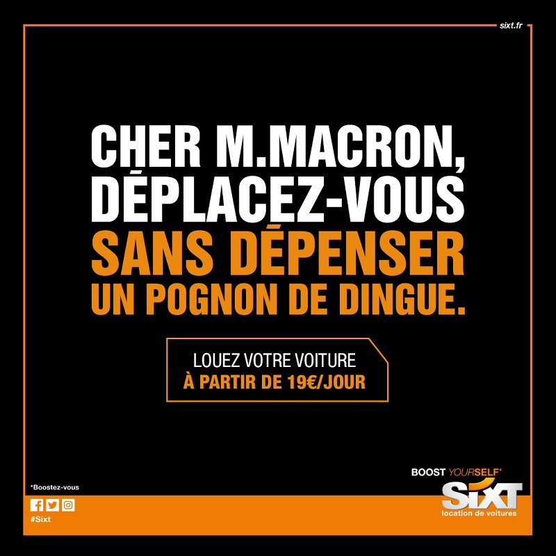 Sixt propose une solution à Emmanuel Macron