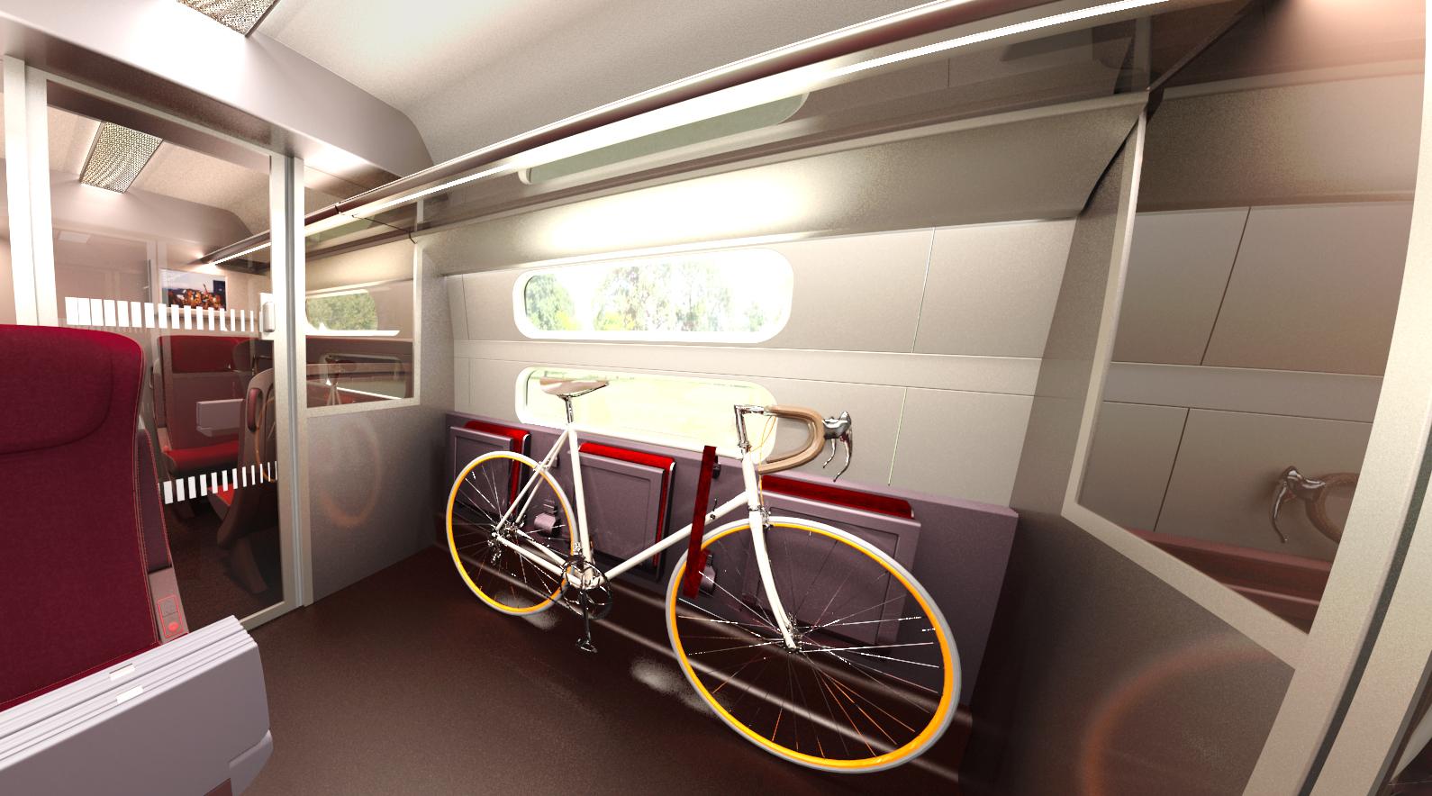 Un espace sera dédié aux vélos. - Thalys