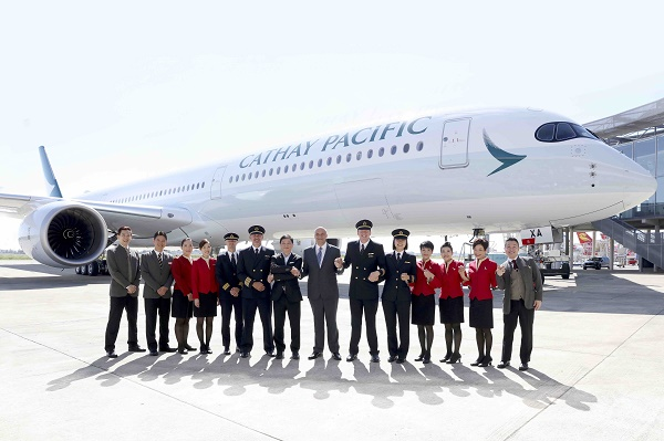 Cathay Pacific fait décoller son premier Airbus A350-1000 - Crédit photo : Cathay Pacific