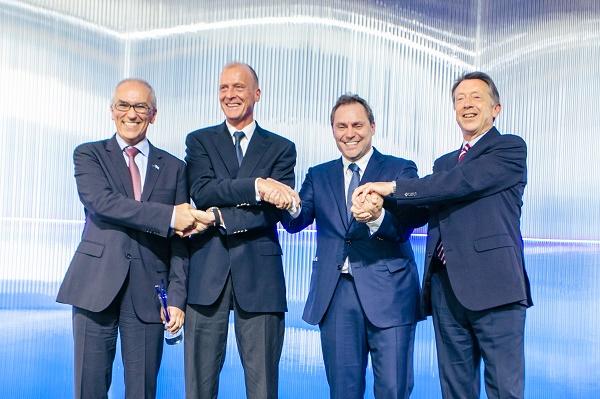 Les responsables d'Aegean et Airbus - Crédit photo : Aegean