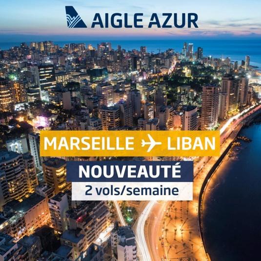 Aigle Azur, premier décollage pour la ligne Marseille-Beyrouth - Crédit photo : Aigle Azur