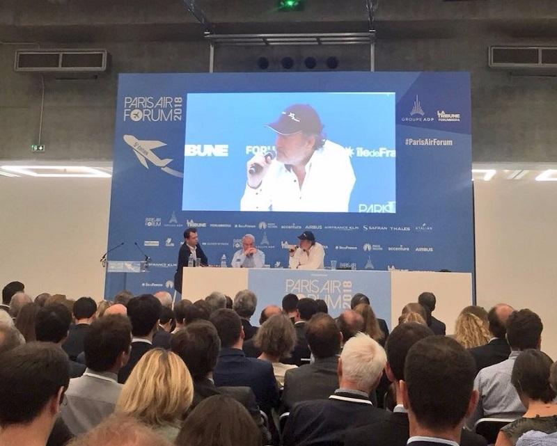 Marc Rochet et Laurent Magnin lors de la conférence du Paris Air Forum - DR PG