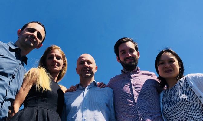 De gauche à droite : D. Sanz, T. Hohn, F. d'Arfeuille, C. Thénot, C. Ho-Gaubert