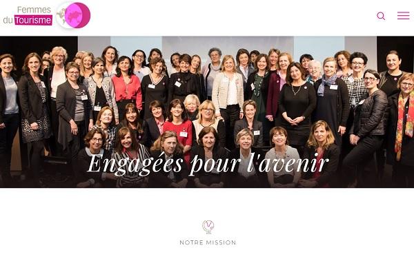 Le nouveau site de l'association Femmes du Tourisme - Capture écran