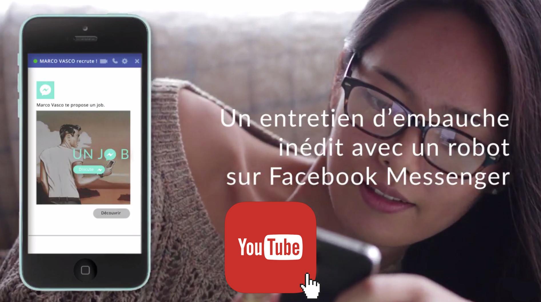 Marco Vasco a lancé en septembre dernier un chatbot via Messenger, l'application de messagerie de Facebook, pour effectuer un premier tri des candidatures. - Marco Vasco