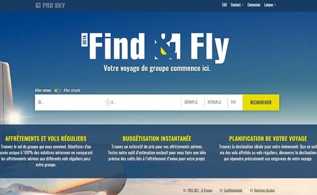 Avec Find&Fly, Pro Sky veut révolutionner le MICE et les vols de groupes - Crédit photo : Find&Fly