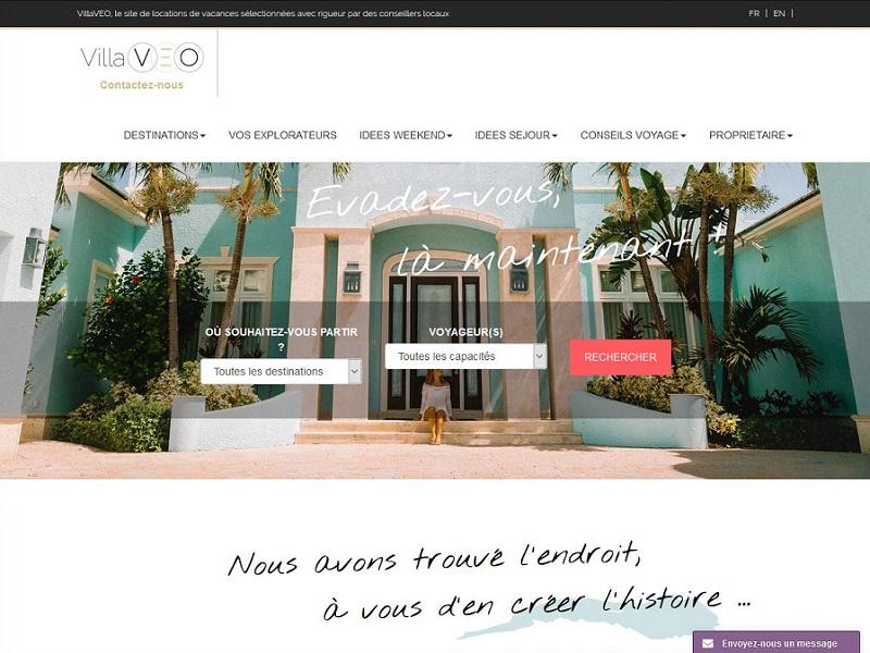 Copie d'écran du site VillaVEO