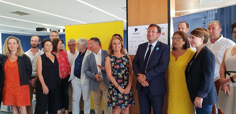 Les partenaires financeurs se sont retrouvés à l'aéroport de Marignane pour le lancement de la 2e édition du Contrat de Destination PROVENCE - Photo : AR