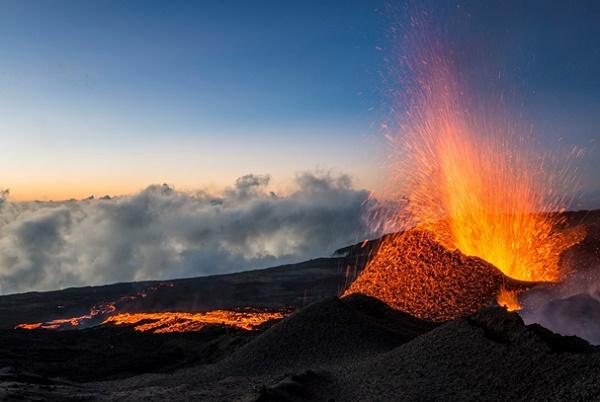 Le Piton de la Fournaise est entré en éruption vendredi 13 juillet 2018 - DR