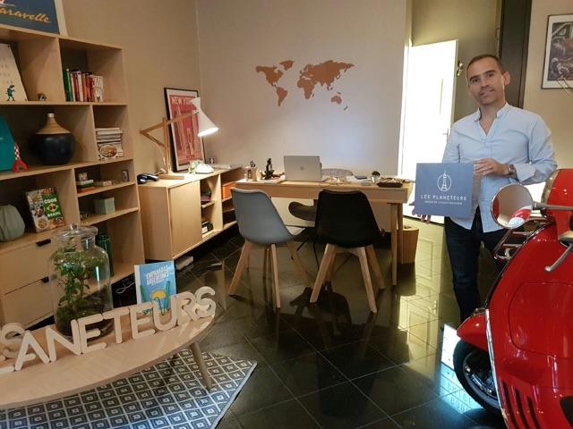 Jérôme Balandraud a lancé Les Planeteurs en février 2016. Il s'adresse plutôt à une clientèle haut de gamme - DR : Les Planeteurs