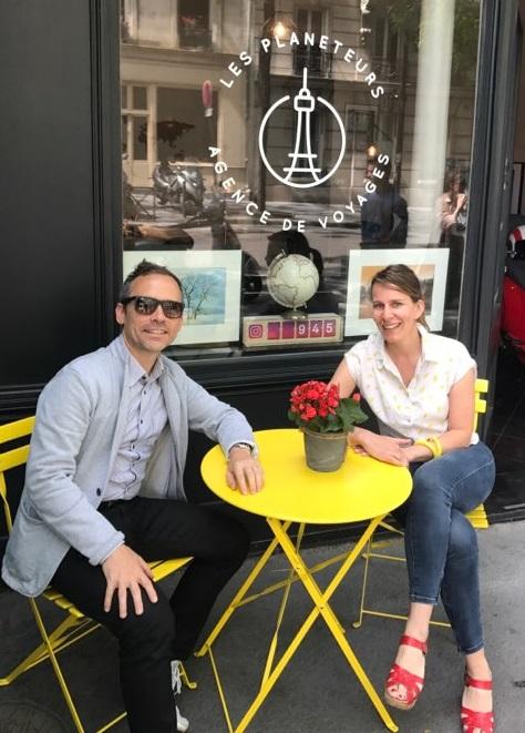 Jérôme Balandraud et Stéphanie, son bras droit - DR : Les Planeteurs