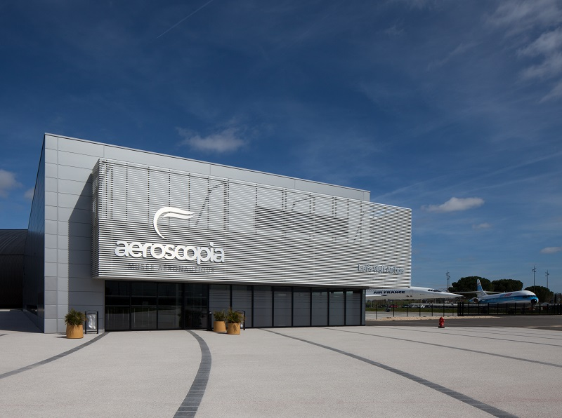 Près du site Airbus et des pistes de l'aéroport Toulouse Blagnac, le musée Aéroscopia est le témoin de l'exceptionnel patrimoine aéronautique toulousain, d'hier à demain - DR : J.-F.R.