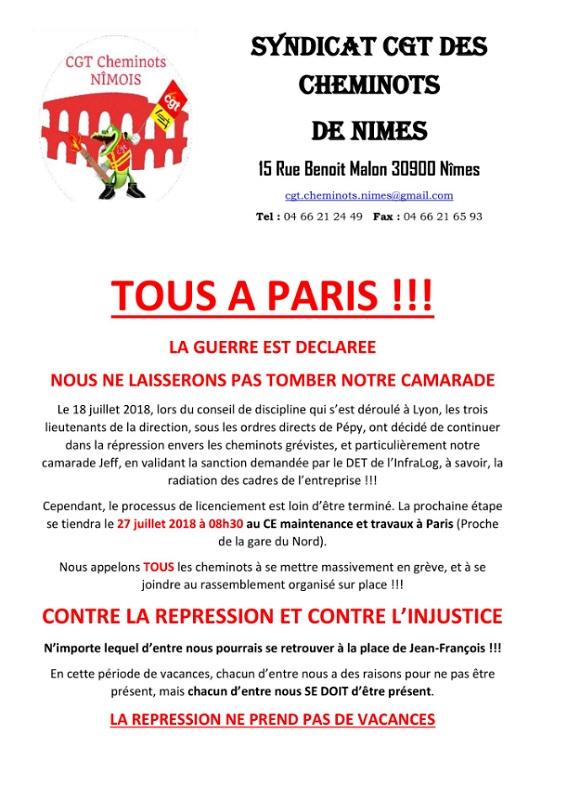 DR : Twitter CGT Cheminots Nimes