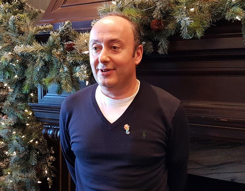 Laurent Abitbol président de Selectour au congrès de Quebec en décembre 2016. A cette occasion le réseau présente son nouveau logo et son nouveau concept d'agences. Photo CE.